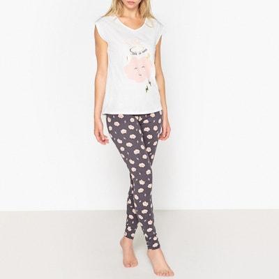 Pyjama en coton, imprimé à message Pyjama en coton, imprimé à message La Redoute Collections