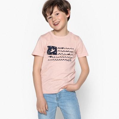 T-shirt bawełniany z nadrukiem 3-12 lat La Redoute Collections