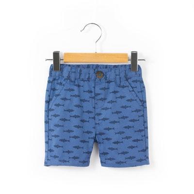 Shark Print Chino Shorts, 1 Month-3 Years Shark Print Chino Shorts, 1 Month-3 Years La Redoute Collections