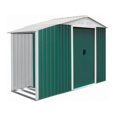 """Abri de jardin métal """"Rosas"""" 2,71 m² avec abri bûche Abri de jardin métal """"Rosas"""" 2,71 m² avec abri bûche HABITAT ET JARDIN"""