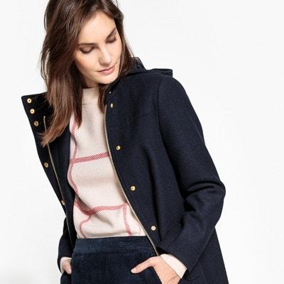 Cappotto con cappuccio in panno di lana MADEMOISELLE R