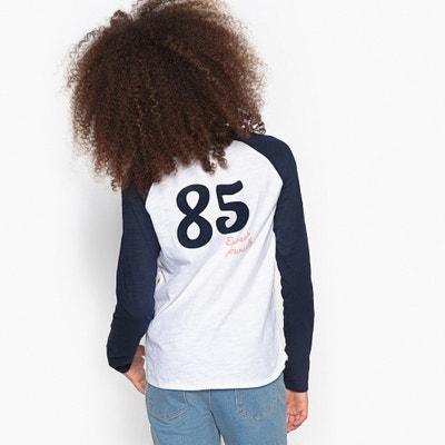 T-shirt fantasia con scollo rotondo, maniche lunghe T-shirt fantasia con scollo rotondo, maniche lunghe La Redoute Collections