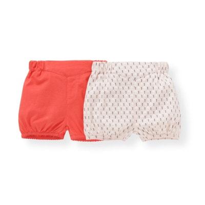 Confezione da 2 shorts in cotone 1 mese - 3 anni, Oeko Tex La Redoute Collections