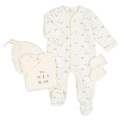Ensemble kit naissance en coton bio Préma- 6 mois La Redoute Collections