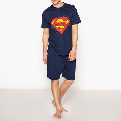Pyjashort in katoen, Superman print SUPERMAN