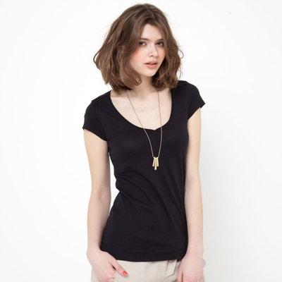 T-shirt col V, manches courtes coton biologique T-shirt col V, manches courtes coton biologique LA REDOUTE COLLECTIONS