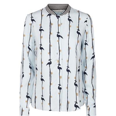 Langärmelige, bedruckte Bluse, gerader Schnitt, runder Ausschnitt Langärmelige, bedruckte Bluse, gerader Schnitt, runder Ausschnitt NUMPH