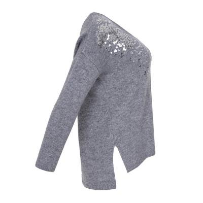 V-Pullover, lange Ärmel, Pailletten V-Pullover, lange Ärmel, Pailletten MAT FASHION