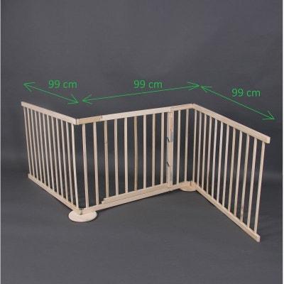 Barrière de sécurité Max XL 180-240cm, en bois, 3 panneaux Barrière de sécurité Max XL 180-240cm, en bois, 3 panneaux BAMBINO WORLD