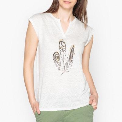 T-shirt com motivo aplicado, MALLY BERENICE