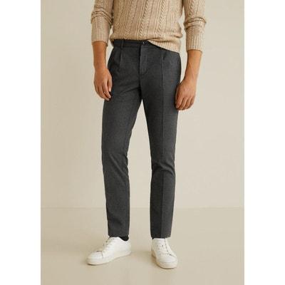 Pantalon chino regular-fit à pinces MANGO MAN d9b66c2f1d41