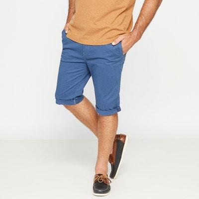 Tapered Stretch Chino-Style Bermuda Shorts CASTALUNA FOR MEN