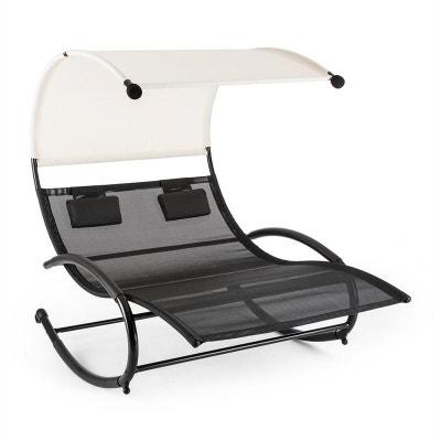 Blumfeldt Suncruise Chaise longue à bascule double transat + pare-soleil BLUMFELDT