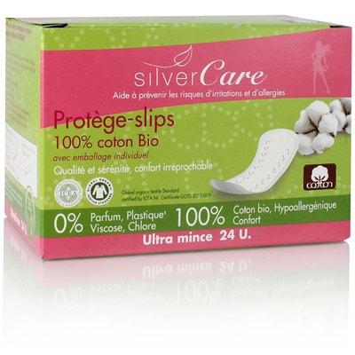 Protège slip en coton bio  Emballage individuel Protège slip en coton bio  Emballage individuel SILVERCARE