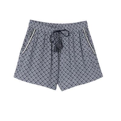 Shorts mit hohem Bund, geometrisches Muster SUNCOO