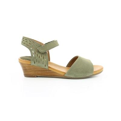 Sandálias em pele nubuck, tacão de cunha, Liane HUSH PUPPIES