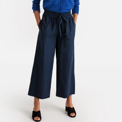 6c860a4cafb13 Pantalon large ceinture élastiquée LA REDOUTE COLLECTIONS