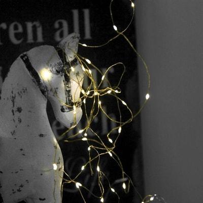 DEW DROPS-Guirlande fine 40 LED à pile L3,9m DEW DROPS-Guirlande fine 40 LED à pile L3,9m XMAS LIVING GLASS