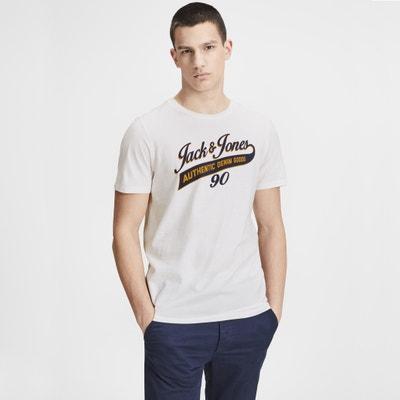 T-shirt col rond manches courtes imprimé devant T-shirt col rond manches courtes imprimé devant JACK & JONES