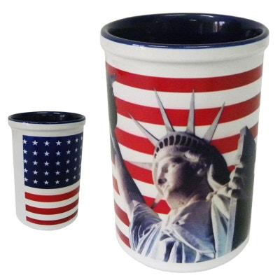 Pot à stylos en céramique USA liberty CBK