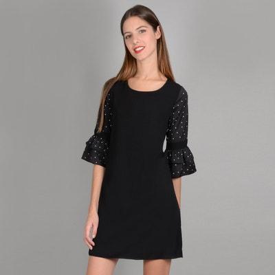 Kurzes Kleid, gerade Passform, 3/4-Ärmel Kurzes Kleid, gerade Passform, 3/4-Ärmel MOLLY BRACKEN