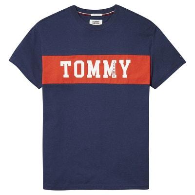 T-shirt col rond manches courtes imprimé devant T-shirt col rond manches courtes imprimé devant TOMMY JEANS