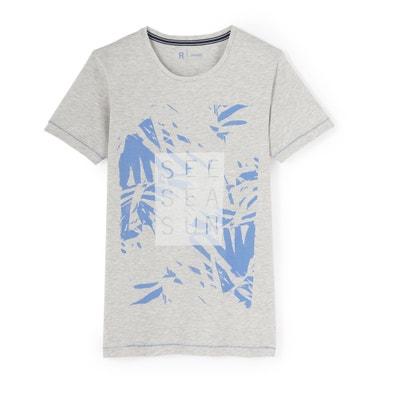 Bedrukt T-shirt met ronde hals La Redoute Collections