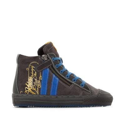 Gevoerde hoge sneakers in leer, Barcalo Gevoerde hoge sneakers in leer, Barcalo KICKERS
