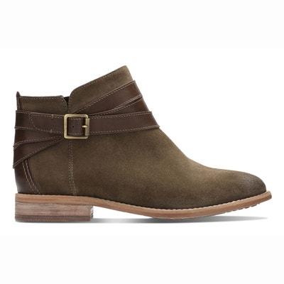 Boots back tartan La Redoute Collections noir Femme