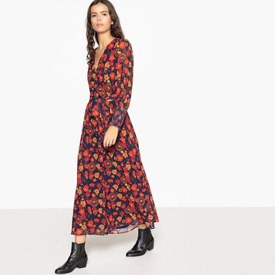 Robe longue cache cœur imprimé fleurs Robe longue cache cœur imprimé fleurs LA REDOUTE COLLECTIONS