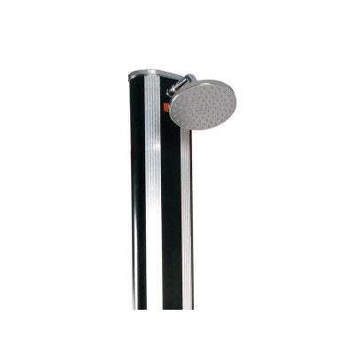 Douche solaire en aluminium avec rince pieds et jet massant - 40L HABITAT ET JARDIN