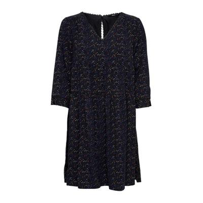Платье прямое с v-образным вырезом, рукава 3/4 Платье прямое с v-образным вырезом, рукава 3/4 ONLY