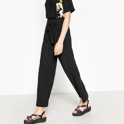 Pantalon large avec ceinture La Redoute Collections
