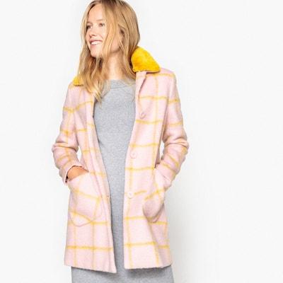 Manteau à carreaux et col amovible MADEMOISELLE R
