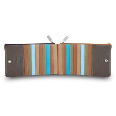 Portefeuille à pochette pour femme en cuir multicolore porte-cartes DUDU a773dc322fe