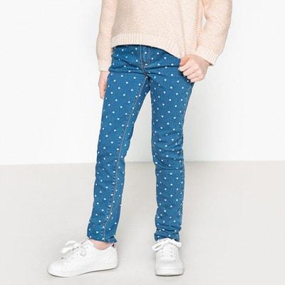 Slim jeans, bedrukt met