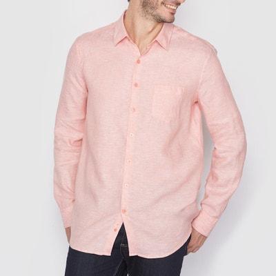 Camisa de mangas compridas, corte direito, 100% linho Camisa de mangas compridas, corte direito, 100% linho La Redoute Collections