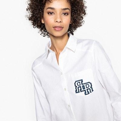 Tunique en coton, col chemise La Redoute Collections