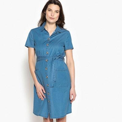 Robe de grossesse en denim avec ceinture taille La Redoute Collections
