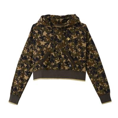 Sweat à capuche imprimé camouflage, pur coton CONVERSE