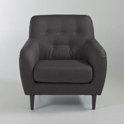 fauteuil vintage gris la redoute. Black Bedroom Furniture Sets. Home Design Ideas