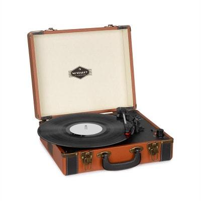 51d0c5af41b51b auna Jerry Lee BT Platine vinyle Bluetooth USB enregistrement   lecture  marron AUNA