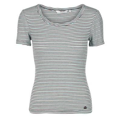 Camiseta a rayas, manga corta, cuello redondo NUMPH