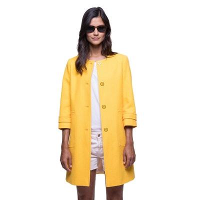 Manteau femme jaune