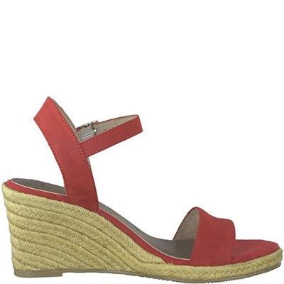 Livia Leather Wedge Sandals Livia Leather Wedge Sandals TAMARIS