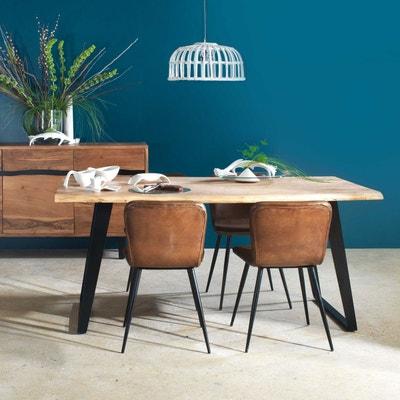 Chaise design cuir de buffle naturel - marron  |  ME Chaise design cuir de buffle naturel - marron  |  ME MADE IN MEUBLES