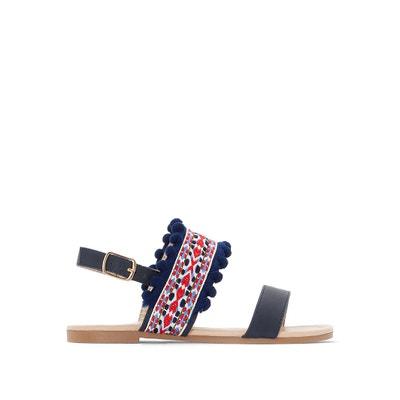 Sandalias con borlas bordadas, del 26 al 39 La Redoute Collections