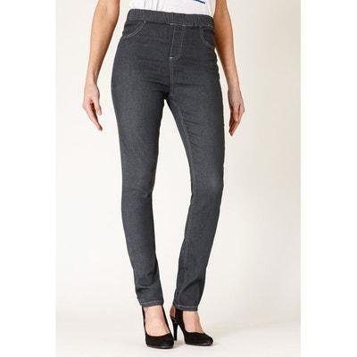 dc7acdff2cef9 Jeans coupe legging stretch taille haute élastiquée LUNA RICA LEWIS