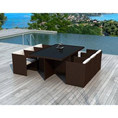 Salon de jardin - Table, chaises Delorm | La Redoute