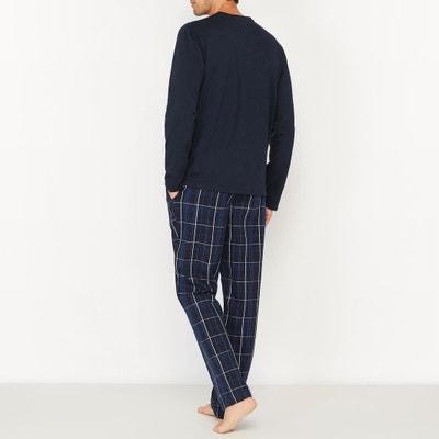 Pyjama manches longues avec pantalon à carreaux La Redoute Collections